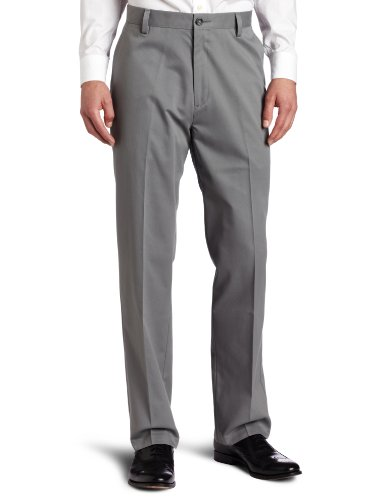 Dockers Men's Easy Khaki D3 Classic-Fit Flat-Front Pant, Gravel, 34W x 34L