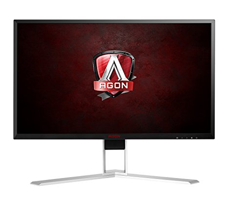 "AOC Agon AG241QX 24"" Gaming Monitor, QHD 2560x1440, G-SYNC Compatible + Adaptive-Sync, 144Hz, 1ms, DisplayPort/HDMI/DVI-D/VGA, QuickSwitch keypad, VESA"