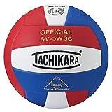 Tachikara Indoor Volleyball Scarlet/White/Royal