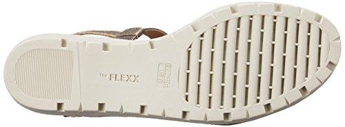 Fucile Women's Sandal Sun Flat Canna Tan The Tris Di Flexx 85AqxwnXO