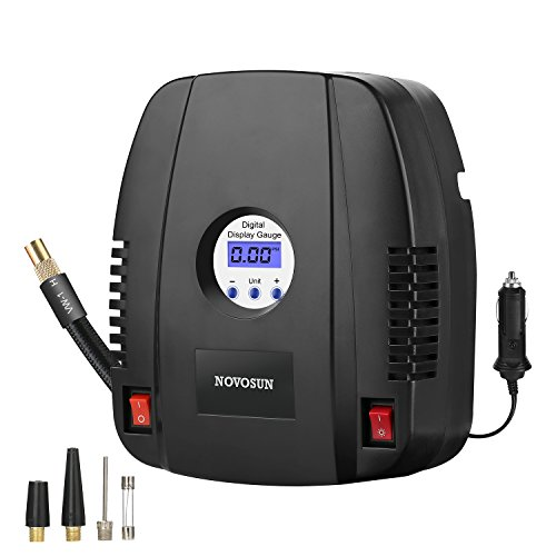 Portable Air Compressor Pump,12V 160 PSI Auto Digital Tire Inflator,The LED Light with Switch Tire Pump for Car,Bicycle,Basketball,Air Boat and Other Inflatables