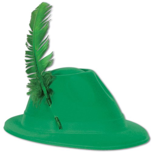 Beistle 33939 48-Pack Velour Alpine Hats, Green and Gold by Beistle