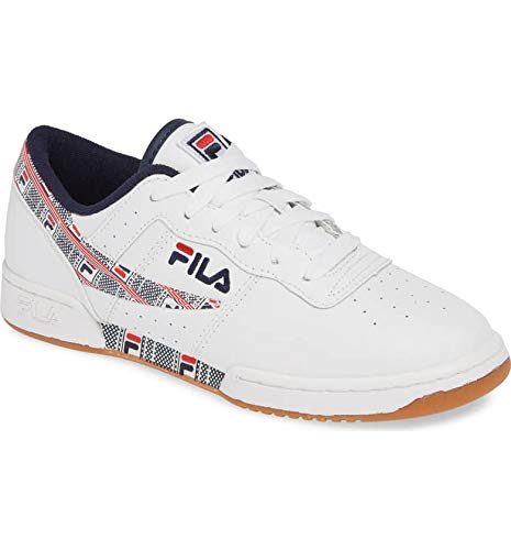Fila Men's Original Fitness Haze Shoes Sneakers (9, White/Navy/Red)