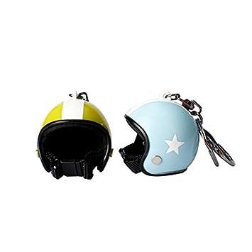 Wewoo Puerta Llaves Coche Llavero Pentágono Modelos Moto Sombrero Caballero Seguridad Casco Pequeño Colgante Entrega Color
