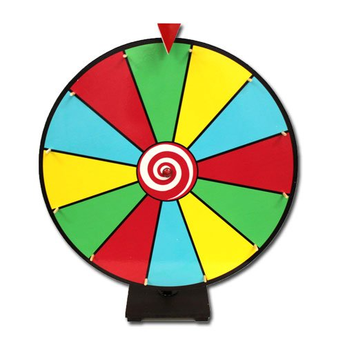 Deluxe 24 Inch Dry Erase Prize Wheel - Choose Type by Brybelly