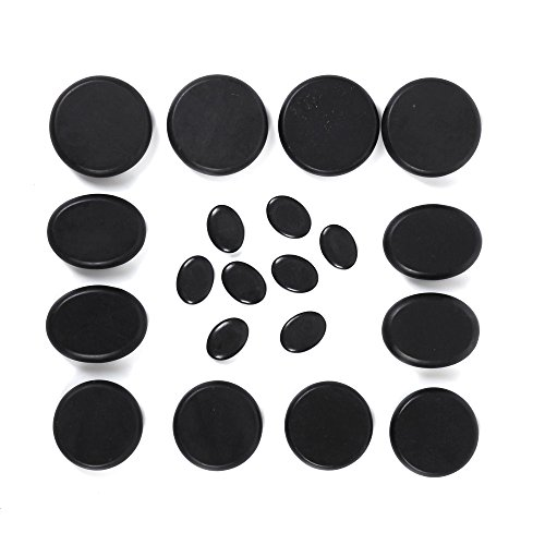 Aboval 20Pcs Professional Massage Stones Set Natural Lava Basalt Hot Stone for Spa, Massage Therapy by Aboval (Image #1)