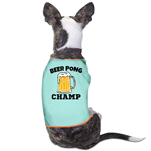 Nicokee Puppy Dogs Shirts Costume Beer Pong Champ Pets Clothing Warm Vest T-Shirt -