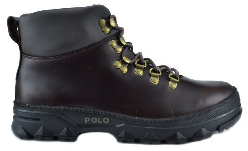 Smooth Boots Lauren Leather Brown Polo Ralph Hainsworth Dark fAqwvFxv