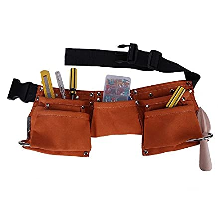 PinShang Kids Children Leather Toolkit Tool Pouch Pockets with Adjustable Belt for Costumes Dress Up Role Play Pink