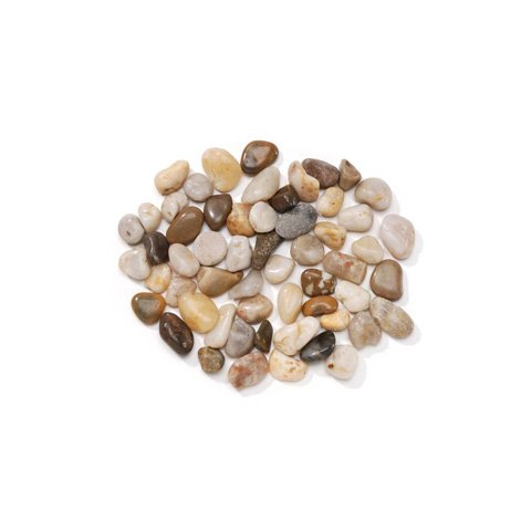 Natural river pebbles smooth - for creating pathways for fairy gardens, gnome villages or using for vase fillers or table scatters - approx 1.75 pounds