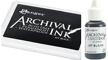 Amazon Ranger Archival Jet Black Permanent Dye Ink Stamp Pad