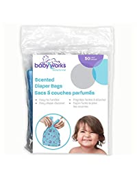 Baby Works Disposable Scented Diaper Bags, 50-Count