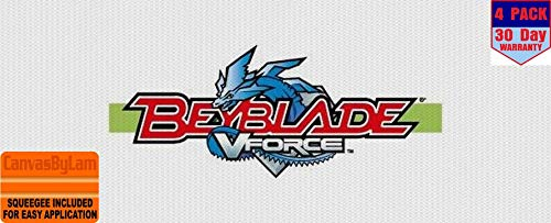 beyblade 4 Stickers 4x4 Inches Car Bumper Window Sticker Decal canvasbylam