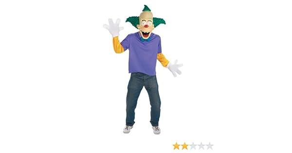 Cesar Los Simpsons - Disfraz de Crusty el Payaso para adultos (talla 42-44): Amazon.es: Juguetes y juegos