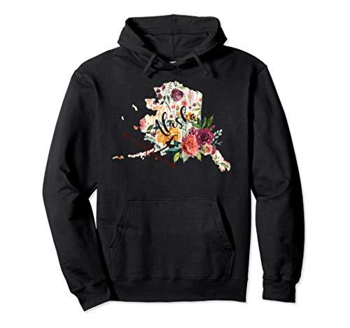 Alaska Flowers Floral Heart Arrow Hoodie Sweatshirt