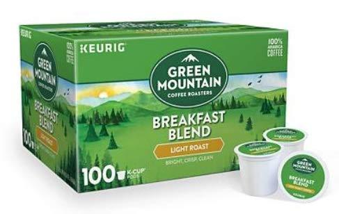 Green Mountain Coffee Roasters Breakfast Blend Flavor, Light Roast Coffee, Keurig Single-Serve K-Cup Pods