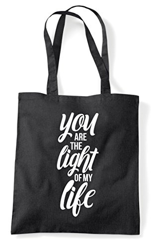 Tote Are Light My Life Statement Shopper Bag The Black You Of 6S0Sq