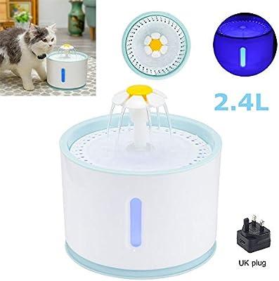 SUNJULY Fuente del Dispensador de Agua para Mascotas, Dispensador ...