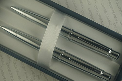 European Design Ballpoint Pen (Cross Elegant Dhala and Extremely Polished Chrome Barrel Ball-Point Pen and 0.7mm)