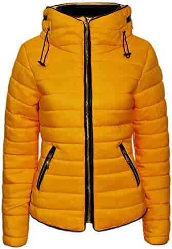 59f77d863e9 Love My Fashions Women Padded Puffer Jacket Ladies Bubble Fur Collar  Quilted Knitted Plus Size