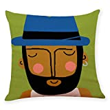 MObast Best Cushion Covers Cotton Linen Square Home Decorative Throw Pillow Case Sofa Waist Pillow Case Protector Pillowcases 45 * 45cm(18 * 18'), E
