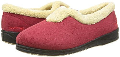 Rojo Mujer De Zapatillas Para Casa Padders fq08InXwq