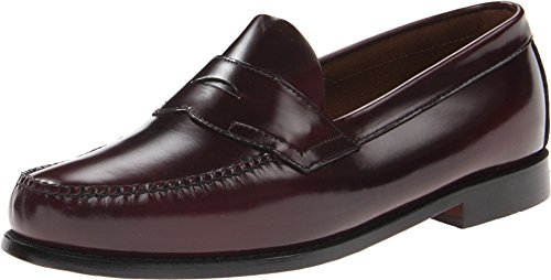 G.H. Bass & Co. Men's Logan Flat Panel Loafer,Burgundy,7 US D - Logan Leather Shoes