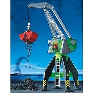 amazoncom playmobil harbor crane toys amp games