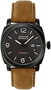 Curren for Men - Analog Leather Band Watch - 8158