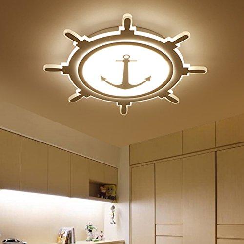 Luces LED para niños contratado habitación iluminación ideas dormitorio moderno lámpara chicos chicas azul cielo lámparas de techo, diámetro 62cm stepless ...
