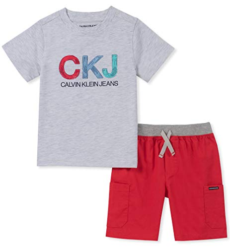 Calvin Klein Boys' Little 2 Pieces Shorts Set,