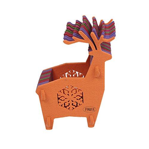 Reindeer Snowflake Felt Candy Container Set Chocolate Sugar Cookies Gift Basket Christmas Decoration (Basket Cookie Snowflake)