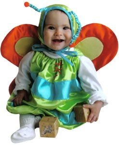 [Butterfly Deluxe Baby Costume 6-12 Month Size] (Most Extreme Halloween Costumes)