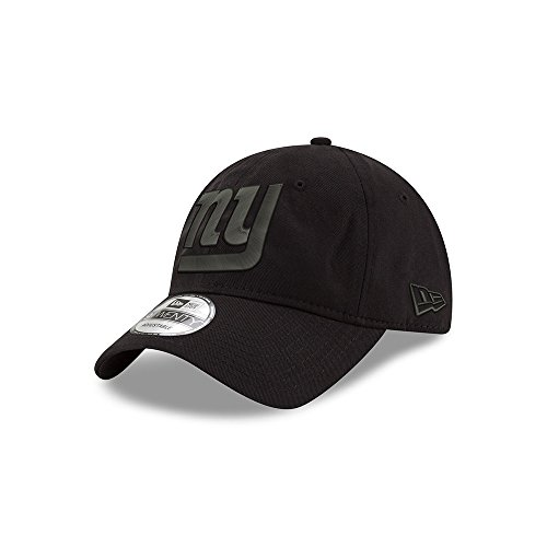 New York Giants Black on Black 9TWENTY Adjustable Hat / Cap
