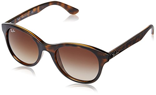 Ray-Ban NYLON UNISEX SUNGLASS - SHINY HAVANA Frame BROWN GRADIENT Lenses 51mm - Ray Ban Accessories