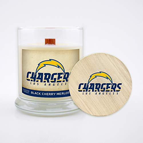 Wood Wick Worthy Promotional NFL Buffalo Bills Linen Scented 6 oz Soy Wax Candle