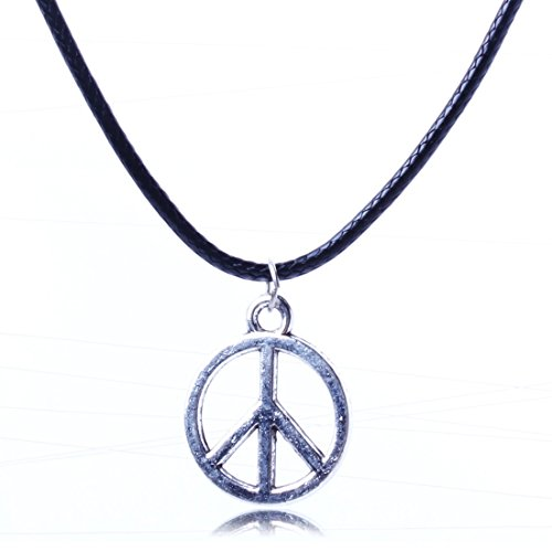 Gold Peace Sign Necklace - 5