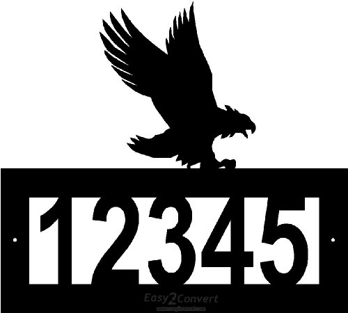 Custom Steel Eagle address sign