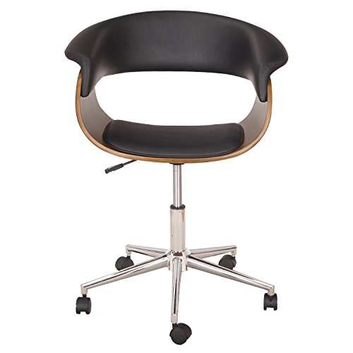 Bentwood Half Back Black Leather Adjustable Home Desk Swivel
