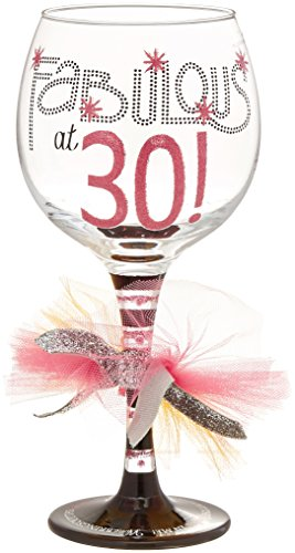 30th wine glass - 1
