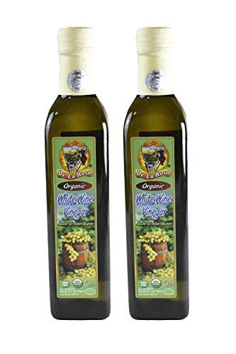 De La Rosa Real Foods & Vineyards - Organic Italian White Wine Vinegar (16.9 oz/500 ml) twin ()