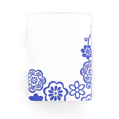 mujer regalos hombre con Porcelana Aisi y o Azul dise Mini Tarjetero de cuero Tarjetas Negro creativo para 20 F7qv76xUXw