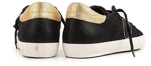 Modello Philippe Donna Classico Nera Clld1006 E Camoscio Di Oro Pelle In Sneaker Bassa frgwf5q
