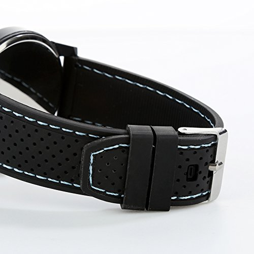 FinancePlan Men's Fashion Quartz Analog Watches, Silicone Rubber Band Stainless Steel Wrist Watch on Sale Clearance by FinancePlan (Image #4)