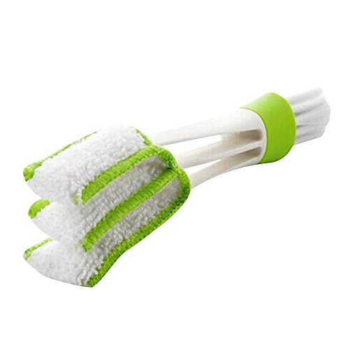 Happy Hours - 2 in 1 Removable Computer Window Cleaning Brush / Blinds Pocket Brush Keyboard Dust Collector Air-condition Cleaner Tools(Green)