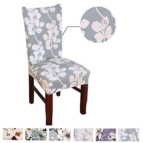Argstar 2pcs Chair Covers for Dining Room Spendex Slipcovers Flower Design by