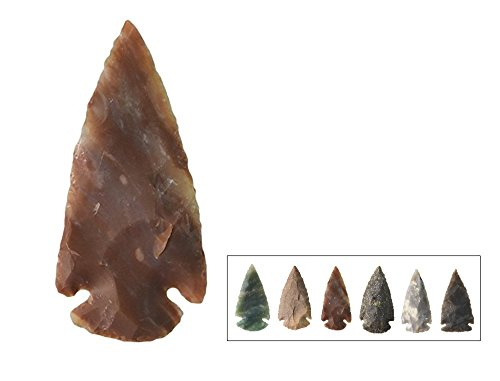 6 Pieces - 2 to 2 1/2 Inch Contemporary Arrowheads