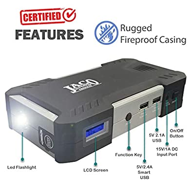 JACO BoostPro Car Battery Jump Starter - Powerful Portable Power Bank - 600A/16500mAh