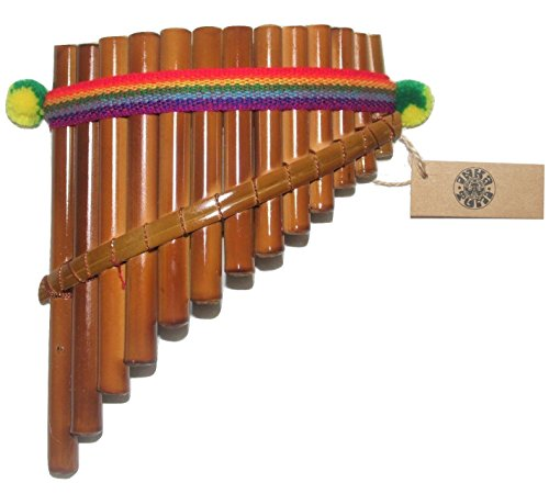 Beautiful InkaTumi Decorative 13 Pipes Curved Pan Flute - Artisan handmade in Peru -