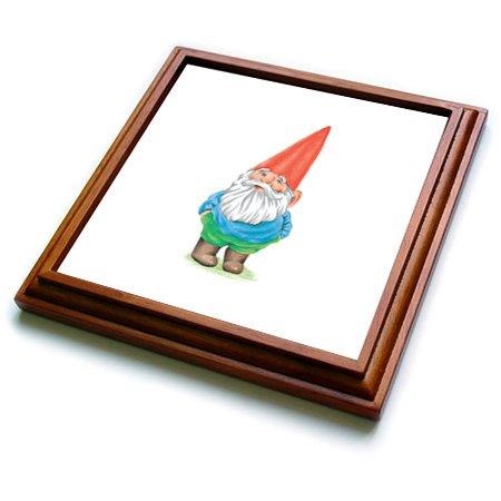 3dRose trv_123988_1 Gnome Trivet with Ceramic Tile, 8 by 8